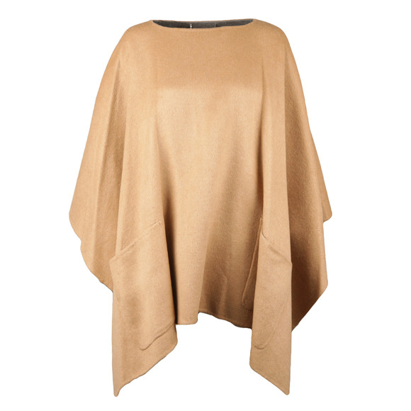 Michael Kors Womens Brown Doubleface Poncho