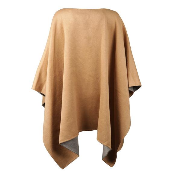 Michael Kors Womens Brown Doubleface Poncho