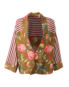 Maison Scotch Womens Multicoloured Kimono Inspired Top