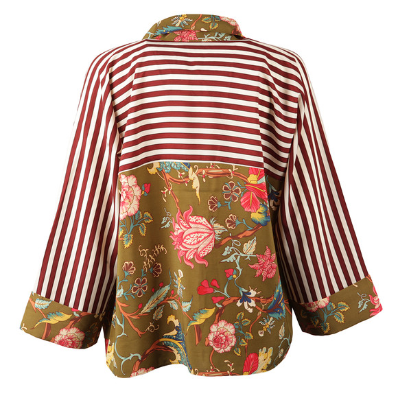 Maison Scotch Womens Multicoloured Kimono Inspired Top main image