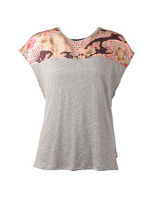 Maison Scotch Womens Grey Short Sleeve T Shirt