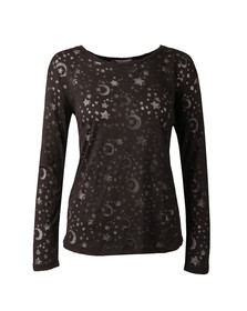 Maison Scotch Womens Black Long Sleeve T Shirt