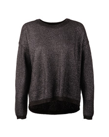 Maison Scotch Womens Grey Cool Metallic Knit