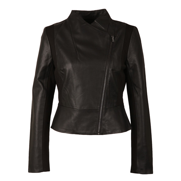 French Connection Womens Black Chariot Pu Wrapover Jacket main image