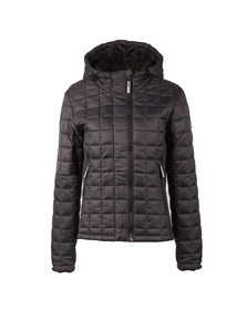 Superdry Womens Blue Hooded Box Quilt Fuji Jacket