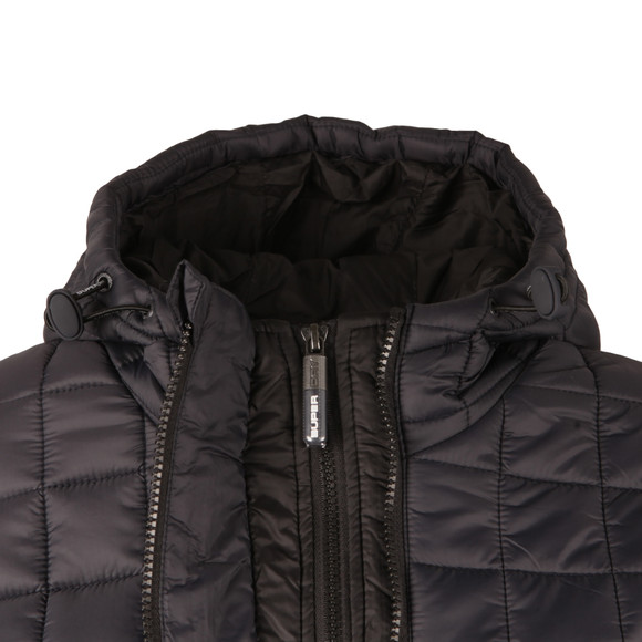 Superdry Womens Blue Hooded Box Quilt Fuji Jacket  main image