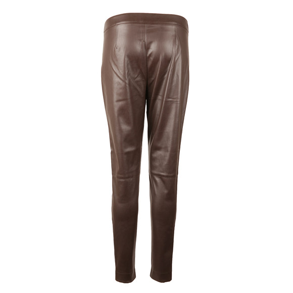 French Connection Womens Brown Atlantic Pu Skinny Trouser