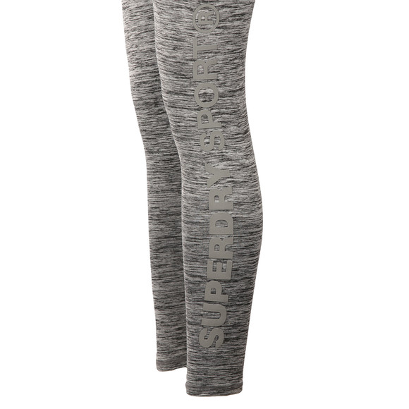 Superdry Womens Grey Core Gym Leggings main image
