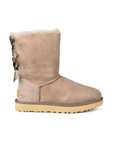 Ugg Womens Grey Bailey Bow II Boot