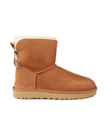 Ugg Womens Brown Mini Bailey Bow II Boot