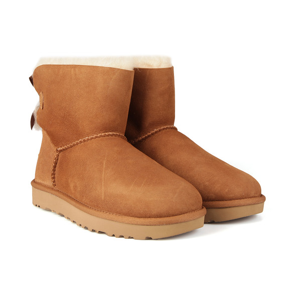 Ugg Womens Brown Mini Bailey Bow II Boot main image