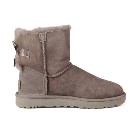 Ugg Womens Grey Mini Bailey Bow II Boot main image