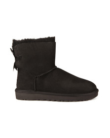 Ugg Womens Black Mini Bailey Bow II Boot
