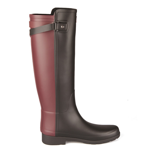 Hunter Womens Black Original Tall Refined Back Strap Wellington Boots main image