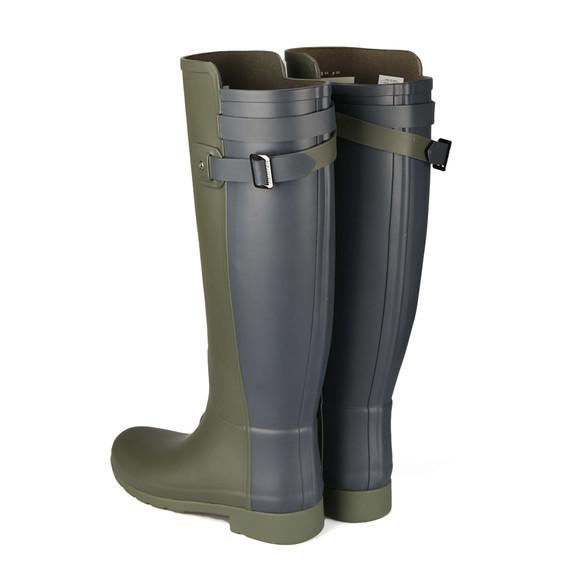 Hunter Womens Green Original Tall Refined Back Strap Wellington Boots main image