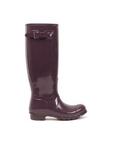 Hunter Womens Purple Original Gloss Wellington