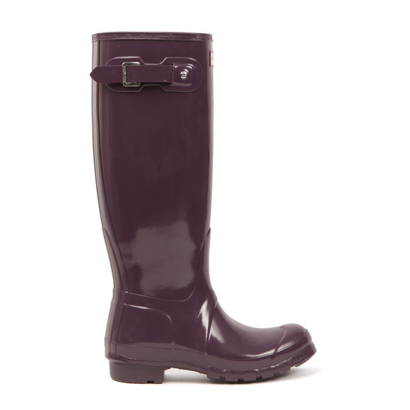 Hunter Womens Purple Original Gloss Wellington main image