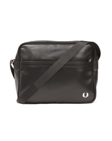Fred Perry Mens Black Pique Textured Shoulder Bag