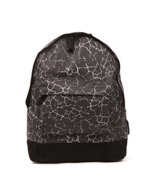 Mi Pac Unisex Black Cracked Backpack