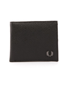 Fred Perry Mens Black Scotchgrain Billfold Wallet
