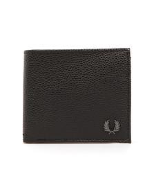 Fred Perry Mens Black Scotchgrain Bill & Coin Wallet