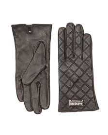 Barbour International Womens Black Burton Leather Glove