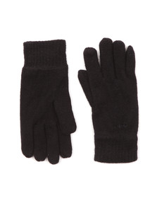 Gant Mens Blue Cotton/Wool Gloves