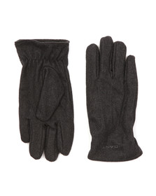Gant Mens Grey Melton Gloves