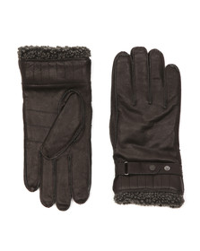 Barbour Lifestyle Mens Black Tindale Leather Glove