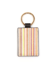 Paul Smith Mens Black Leather Keyfob