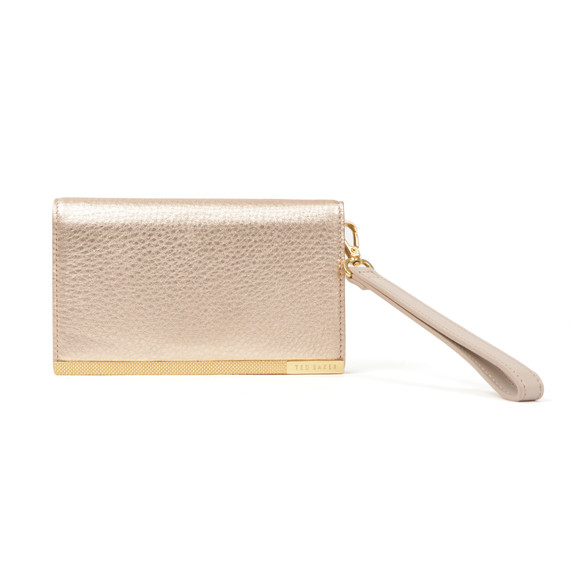 Ted Baker Womens Grey Quinlee Slim Bar Leather Phone Sleeve main image