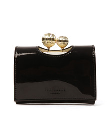 Ted Baker Womens Black Julissa Etched Bobble Patent Small Purse