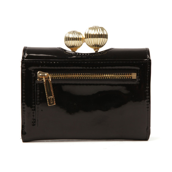 Ted Baker Womens Black Julissa Etched Bobble Patent Small Purse main image