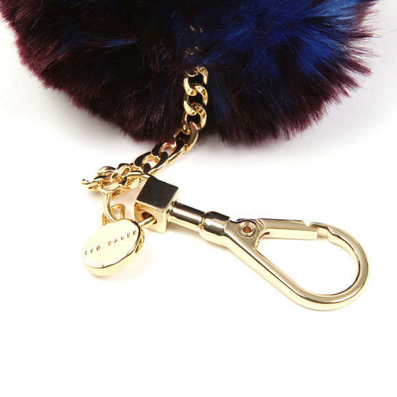 Ted Baker Womens Blue Plain Faux Fur Bag Charm main image
