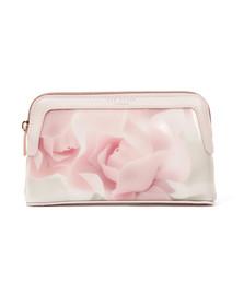 Ted Baker Womens Pink Amallia Porcelain Rose Makeup Bag