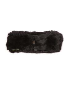 Ted Baker Womens Black Willa Mini Bow Faux Fur Headband