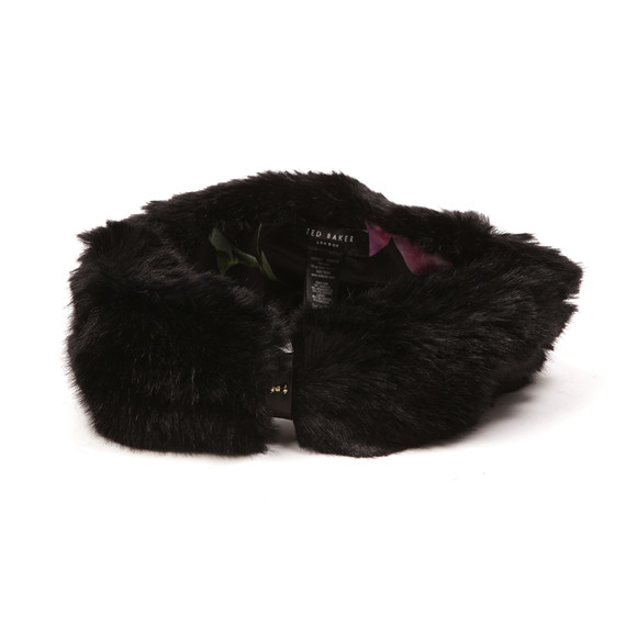 Ted Baker Womens Black Willa Mini Bow Faux Fur Headband main image