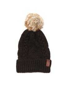 Superdry Womens Black North Cable Bobble Hat
