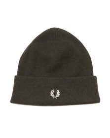 Fred Perry Mens Green Merino Wool Beanie