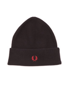 Fred Perry Mens Blue Merino Wool Beanie