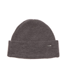 Hugo Mens Grey Xiann Ribbed Beanie