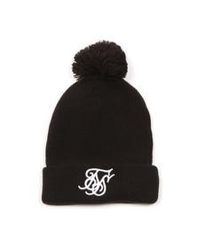 Sik Silk Mens Black Tonal Bobble Hat