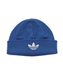 Adidas Originals Mens Blue Trefoil Beanie