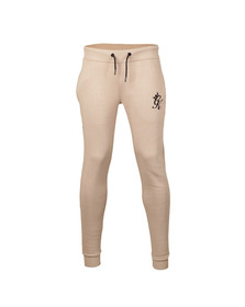 Gym king Mens Beige Core Tracksuit Bottoms