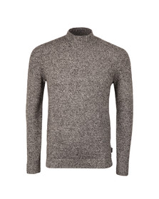 Ted Baker Mens Grey L/S Stitch Interest Funnel Neck