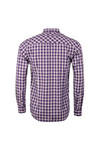 Merc Mens Blue Sancton Check Shirt