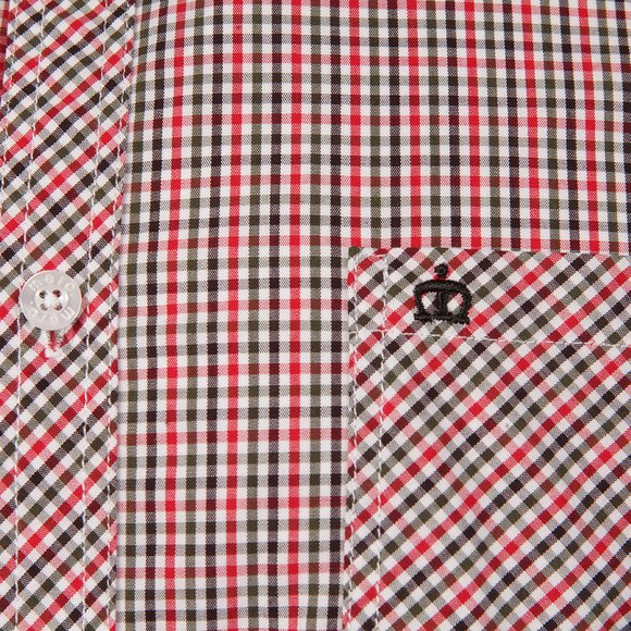 Merc Mens Red Syndale Small Check Shirt main image