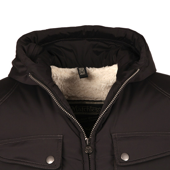 Matchless Mens Black Nettleton Hooded Jacket main image