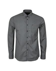 Merc Mens Blue Helmsley Paisley Shirt