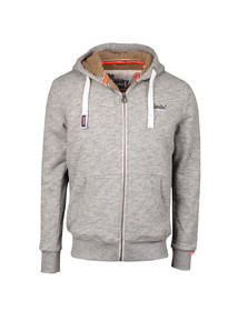 Superdry Mens Grey Heavy Full Zip Sweat